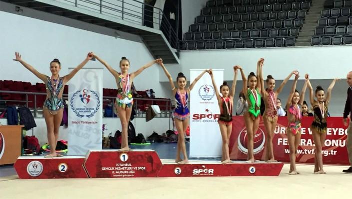 Jimnastikte İstanbul Şampiyonluğu