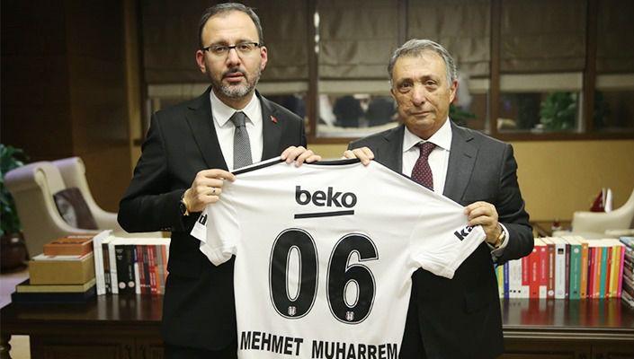 Başkanımız Ahmet Nur Çebi'den Gençlik ve Spor Bakanı Dr. Mehmet Muharrem Kasapoğlu'na Ziyaret