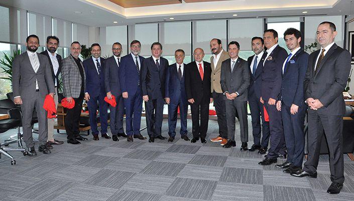 Başkanımız Ahmet Nur Çebi'den Türkiye Futbol Federasyonu Başkanı Nihat Özdemir'e Ziyaret