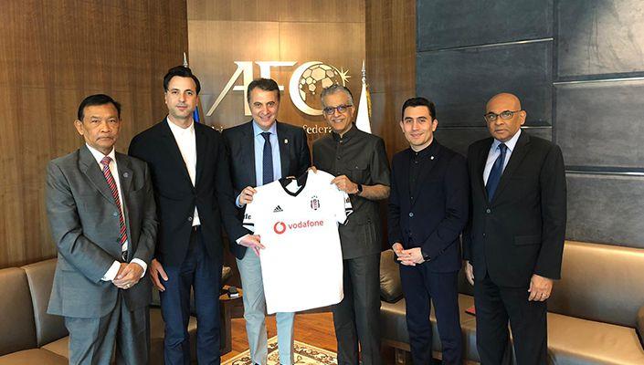 Başkanımız Fikret Orman'dan Asya Futbol Konfederasyonu Başkanı Salman Bin Ebrahim Al Khalifa'ya Ziyaret