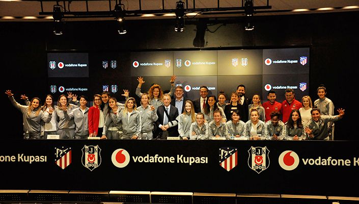 Beşiktaş - Atlético de Madrid Vodafone Kupası Maçının Tanıtım Toplantısı Yapıldı