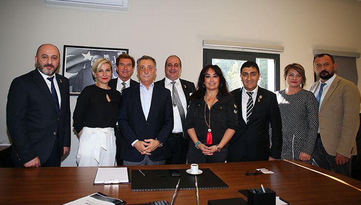 Beşiktaşlı Girişimci İş Adamları ve Kadınları Derneği'nden Başkanımız Ahmet Nur Çebi'ye Ziyaret