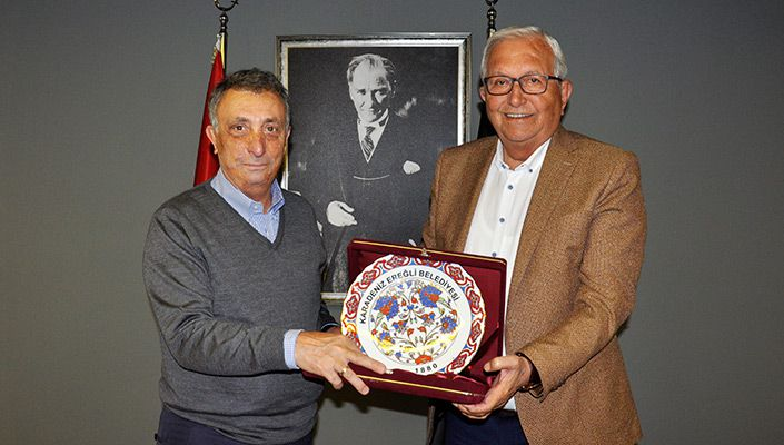 Karadeniz Ereğli Belediye Başkanı Halil Posbıyık'tan Başkanımız Ahmet Nur Çebi'ye Ziyaret