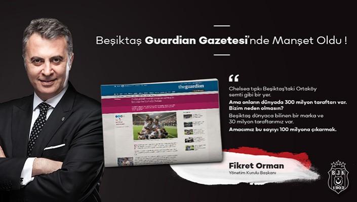 Beşiktaş, The Guardian'ın Manşetinde