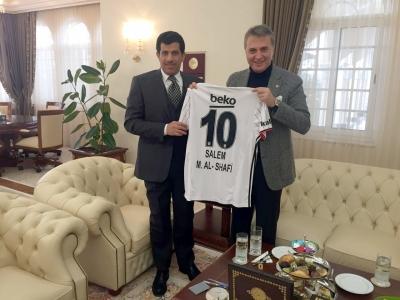 Başkanımızdan Katar Büyükelçiliği'ne Ziyaret